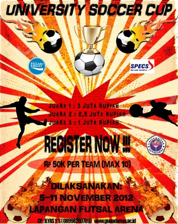 Poster Kegiatan University Soccer Cup