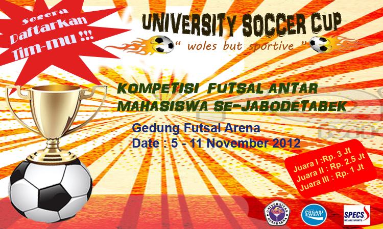 Spanduk Kegiatan University Soccer Cup